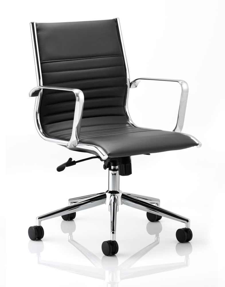 Ritz Executive Chair Black Bonded Leather Medium Back With