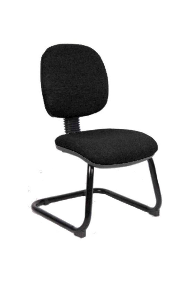 fabric office chairs with arms. Picture Of Office Chair Company Luna Cantilever Black Fabric Without Arms Chairs With