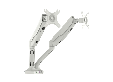 Picture of Office Chair Company Easy Adjust Dual Monitor Arm in White