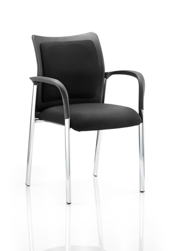 Picture of Office Chair Company Academy Visitor Chair Black Fabric Back With Arms