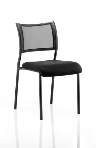Picture of Office Chair Company Brunswick Visitor Chair Black Fabric Without Arms Black Frame