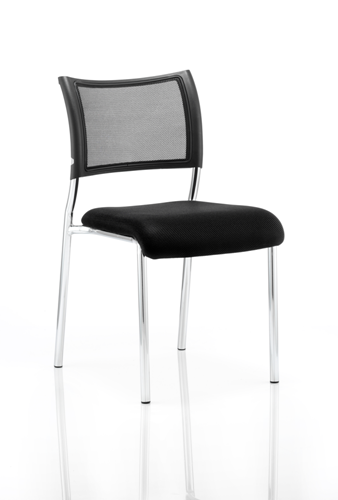 Picture of Office Chair Company Brunswick Visitor Chair Black Fabric Without Arms Chrome Frame