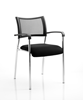 Picture of Office Chair Company Brunswick Visitor Chair Black Fabric With Arms Chrome Frame