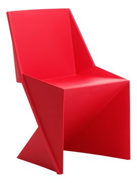 Picture of Office Chair Company Freedom Visitor Stacking Chair Red Polypropylene