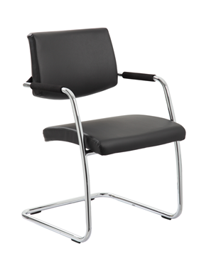 Picture of Office Chair Company Havanna Visitor Chair Black Leather With Arms