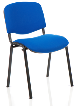 Picture of Office Chair Company ISO Stacking Chair Blue Fabric Black Frame Without Arms (Min Order Qty X 4)