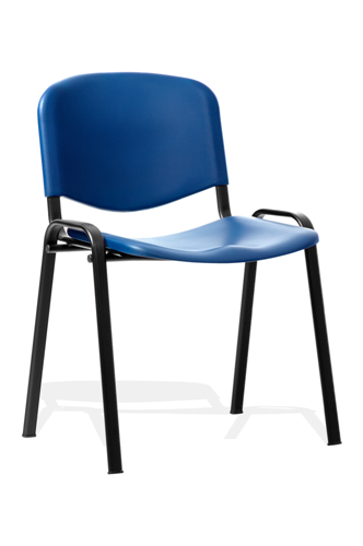 Picture of Office Chair Company ISO Stacking Chair Blue Poly Black Frame Without Arms (Min Order Qty X 4)