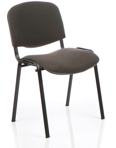 Picture of Office Chair Company ISO Stacking Chair Charcoal Fabric Black Frame Without Arms (Min Order Qty X 4)