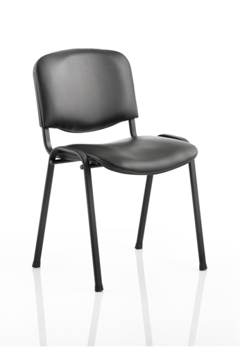 Picture of Office Chair Company ISO Stacking Chair Black Vinyl Black Frame Without Arms (Min Order Qty X 4)