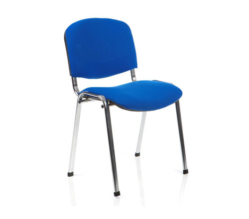 Picture of Office Chair Company ISO Stacking Chair Blue Fabric Chrome Frame Without Arms (Min Order Qty X 4)