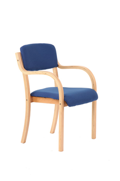 Picture of Office Chair Company Madrid Visitor Chair Blue With Arms