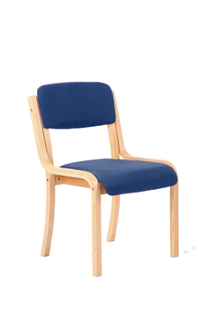 Picture of Office Chair Company Madrid Visitor Chair Blue Without Arms