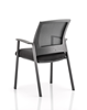 Picture of Office Chair Company Metro Visitor Chair Black Fabric Black Mesh Back With Arms
