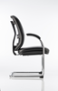 Picture of Office Chair Company Mirage Visitor Cantilever Chair Black Leather With Arms