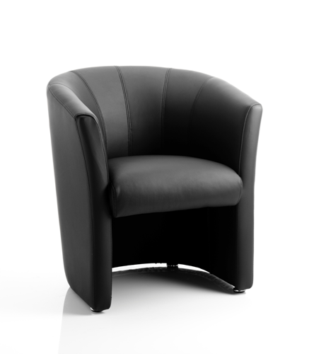 Picture of Office Chair Company Neo Single Tub Black Leather