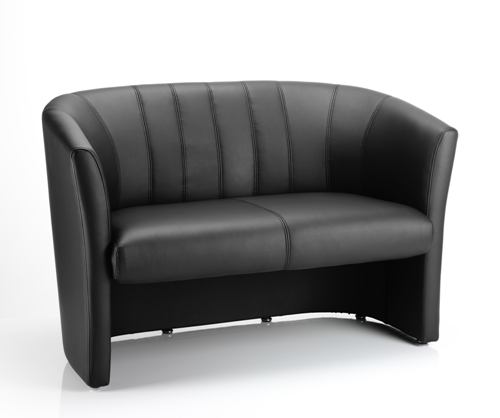 Picture of Office Chair Company Neo Twin Tub Black Leather