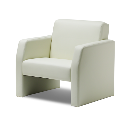 Picture of Office Chair Company Oracle Single Break Out And Reception Chair Ivory Leather