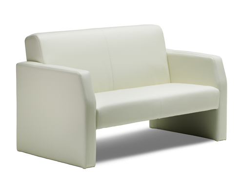 Picture of Office Chair Company Oracle Twin Break Out And Reception Sofa Ivory Leather