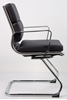 Picture of Office Chair Company Savoy Visitor Cantilever Chair Black Bonded leather With Arms
