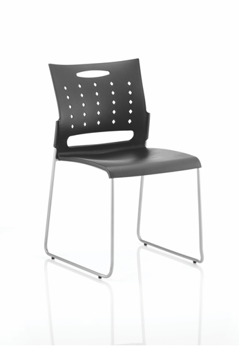 Picture of Office Chair Company Slide Visitor Chair Black Polypropylene