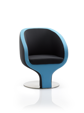 Picture of Office Chair Company Tulip Visitor Chair Black And Blue Fabric