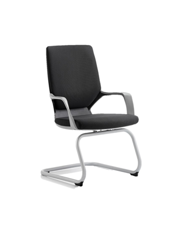 Picture of Office Chair Company Xenon Visitor Cantilever Black Chair Black Fabric With Arms