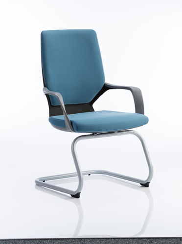 Picture of Office Chair Company Xenon Visitor Cantilever Black Chair Blue Fabric With Arms