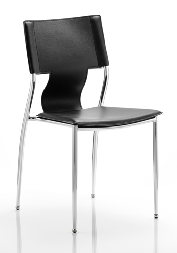 Picture of Office Chair Company Zulu Visitor Chair Black Hard PVC