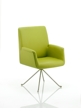 Picture of Office Chair Company Denton Visitor Chair Green Bonded Leather With Arms