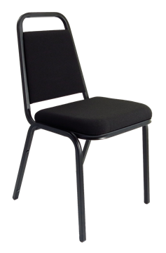 Picture of Office Chair Company Banqueting Stacking Visitor Chair Black Frame Black Fabric