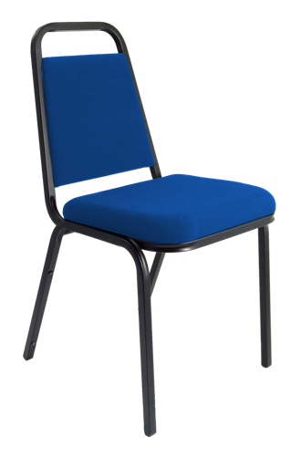 Picture of Office Chair Company Banqueting Stacking Visitor Chair Black Frame Blue Fabric