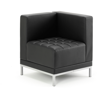 Picture of Office Chair Company Infinity Modular Corner Unit Sofa Chair Black Bonded Leather