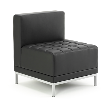 Picture of Office Chair Company Infinity Modular Straight Back Sofa Chair Black Bonded Leather
