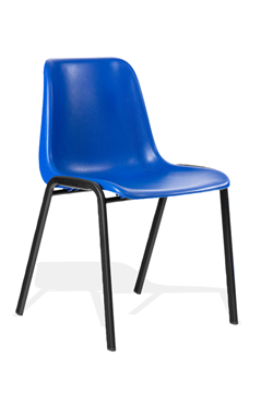Picture of Office Chair Company Polly Stacking Visitor Chair Blue Polypropylene