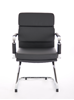 Picture of Office Chair Company Advocate Visitor Chair Black Bonded Leather With Arms