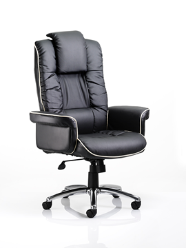 Picture of Office Chair Company Chelsea Executive Chair Black Bonded Leather With Arms