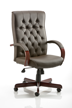 Picture of Office Chair Company Chesterfield Executive Chair Brown Leather With Arms