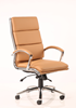 Picture of Office Chair Company Classic Executive Chair Tan With Arms High Back