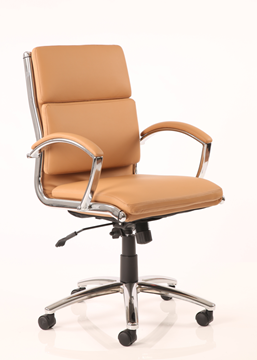 Picture of Office Chair Company Classic Executive Chair Tan With Arms Medium Back