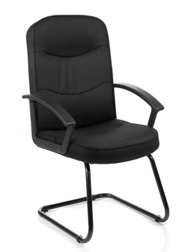 Picture of Office Chair Company Harley Visitor Cantilever Black Fabric With Arms