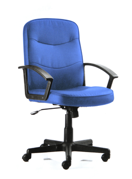 Picture of Office Chair Company Harley Executive Chair Blue Fabric With Arms