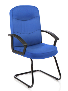 Picture of Office Chair Company Harley Visitor Cantilever Blue Fabric With Arms