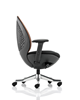 Picture of Office Chair Company Revo Task Operator Chair Black Shell Mandarin Mesh With Arms