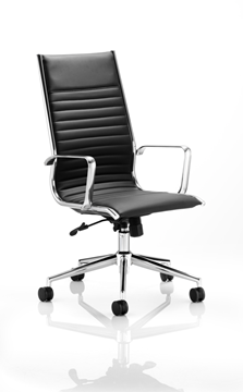 Picture of Office Chair Company Ritz Executive Chair Black Bonded Leather High Back With Arms