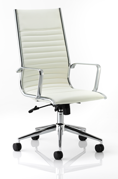 Picture of Office Chair Company Ritz Executive Chair Ivory Bonded Leather High Back With Arms