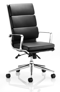 Picture of Office Chair Company Savoy Executive Black Bonded Leather High Back With Arms