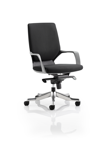 Picture of Office Chair Company Xenon Executive Black Chair Black Fabric Medium Back With Arms
