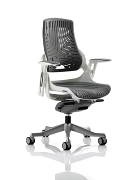 Picture of Office Chair Company Zure Executive Chair Elastomer Gel Grey With Arms