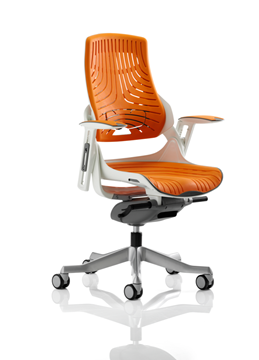 Picture of Office Chair Company Zure Executive Chair Elastomer Gel Orange With Arms