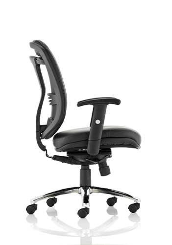 Picture of Office Chair Company Mirage Executive Chair Black Mesh With Arms Without Headrest
